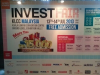 Invest Fair in KLCC Exhibition Hall