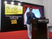 Mr Joe Wong present speech in Property & Investment Exhibition at Mid Valley
