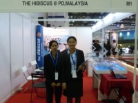 Our Sales Team Promoting The Hibuscus, Pork Dickson, Ocean Villa, Malaysia